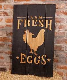 Another great find on #zulily! Distressed 'Farm Fresh Eggs' Wall Sign #zulilyfinds
