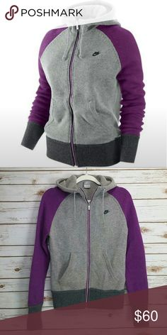 Nike Knit FZ hoodie sweater full zip 76% WOOL In excellent condition. Worn only few times true to size very nice piece to have. Nike Jackets & Coats