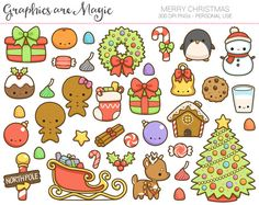 Have a super cute Christmas with this adorable bundle of 37 kawaii graphics to use in your personal projects!  ---------------------------------------------------------------------------------------------- More Items Available Here: http://GraphicsAreMagic.etsy.com ----------------------------------------------------------------------------------------------  :::::::: WHATS INCLUDED ::::::::  One .zip file containing: - All graphics on an 8 x 11 inch sized PNG, at 300dpi, ready to print…