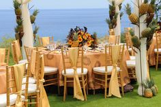 Private luncheon on the golf course of the Four Seasons Resort Lanai, Hawaii.