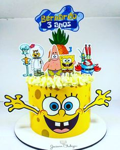 Spongebob Crafts, 9th Birthday Parties, Cake Decorating Videos, Character Cakes, Paper Cake, Unique Cakes, Girl Cakes, Love Is Sweet, Cake Designs