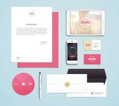 12 packs gratuits pour décliner votre identité graphique en PSD | Blog du Webdesign