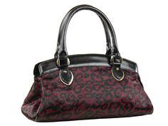 Bolsa feminina média código K0352.19/19 em couro genuíno com pelos e estampa, com alças e colarinho em couro liso.