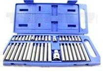 This 40pc torque hex spline bit set is manufactured by Toolzone. A handy set to have around any workshop/ garage. Comes in a plastic carry case for easy storage.