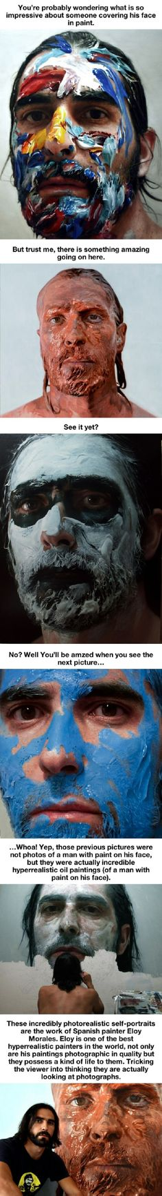 All Is Not As It Seems With The Paint Covered Faces Below is part of Sad drawings Feelings Life - More memes, funny videos and pics on Graffiti, Street Art, Art Et Illustration, Wow Art, You Draw, Claude Monet, Art Plastique, Art Inspo, Amazing Art
