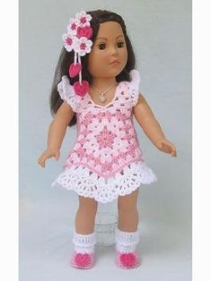 Crochet Dolls Clothes Paid and Free Crochet Patterns for Dolls Like the American Girl Doll - Paid and Free Crochet Patterns for Dolls Like the American Girl Doll for every season. Costumes, gowns, summer attire and more. Crochet Doll Dress, Crochet Doll Clothes, Crochet Doll Pattern, Crochet Patterns, American Doll Clothes, Ag Doll Clothes, Doll Clothes Patterns, Doll Patterns, Dress Patterns