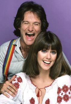 Robin Williams and Pam Dawber in Mork & Mindy (1978)