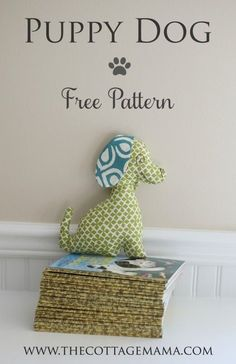 Free Puppy Dog Pattern from The Cottage Mama. www.thecottagemama.com Free Sewing Pattern.