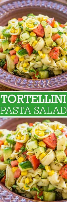 Garden Fresh Tortellini Pasta Salad
