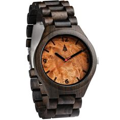 The all ebony black wooden watch is equipped with high quality Japan quartz movement and stainless steel tri-fold clasp with push buttons. Diameter of the dial 1.7 inches. Strap and case are made of 100% bamboo.