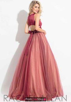 e793070952e Rachel Allan Satin Two Piece Dress 6065