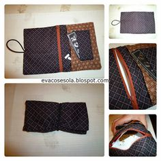 Eva Sew Alone: Tutorial: Case for Rolling Tobacco Clutch Pattern, Louis Vuitton Damier, Leather Bag, Purses And Bags, Sewing Projects, Sewing Patterns, Tote Bag, Knitting, Crochet