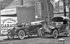 A.H. Chamber's Stuyvesant Garage, Kingston New York and a Model Thirty Packard