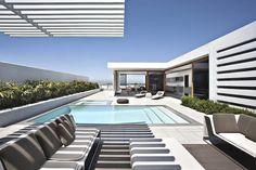 striped terrace cover