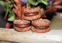 """Melt in your mouth """"Chocolate and Oat Cookies with Creamy Chocolate Filling""""  From Volume Two, """"Cookies, Brownies and Squares""""  