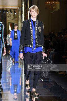 A model walks the runway during the Balmain Menswear Spring/Summer 2017 show as part of Paris Fashion Week on June 25, 2016 in Paris, France. #balmainarmy #BALMAINSS17, #PFW, #olestirnberg #parisfashionweek #eliteboysdoitbetter #elitecopenhagen  @elite_copenhagen, #Malemodel, #elitemodel, #fashionweek, #Ole, #Stirnberg, #models, #fashion, #fashionista, #fashionphotography, #mensfashion,  www.instagram.com/olestirnberg/