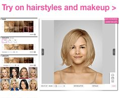 Upload your photo and try on hairstyles and make-up