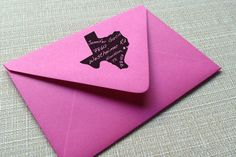 Custom Return Address Stamp State with Star on by RedKingPress