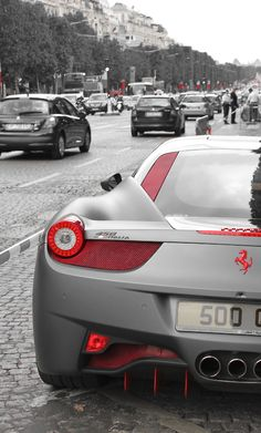 Ferrari 458 italia... It's just gorgeous and back view is just fascinating. Very nice photography