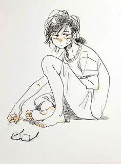 Mükemmel Anime Çizimler - TOP50 | Pixselle Anime Drawings Sketches, Anime Sketch, Cute Drawings, Cute Art Styles, Cartoon Art Styles, Cartoon Kunst, Poses References, Arte Sketchbook, Art Poses