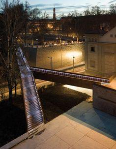 On Diseño - Proyectos: Pasarela peatonal y urbanización en Pamplona. Entorno del Baluarte de Labrit
