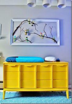 Tydzień żółty: żółta komoda