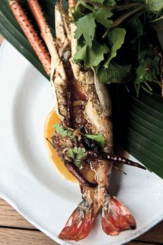 Nahm, Metropolitan Hotel //  Grilled river prawn