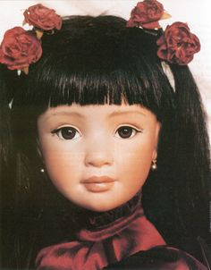 Swan, 1995, 33-inch porcelain doll by Charleen Thanos. LE 50.