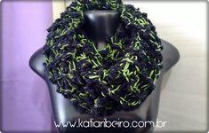 Katia Ribeiro Moda e Decoração Handmade : Gola em Tricô Fio Aspen - Infinity Scarf