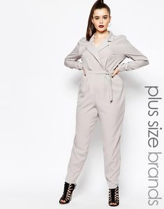 Missguided Long Sleeve D Ring Wrap Jumpsuit / Shop it here http://fave.co/1NrC2mM