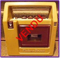 Magnétophone à cassette FISHER-PRICE (1980) - Jouet