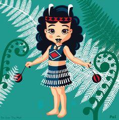 Poi and Ferns by Contour Creative Studio Greeting Card. A greeting card featuring a young Maori girl dancing with poi. Samoan Women, Maori Designs, New Zealand Art, Fantasy Art Women, Nz Art, Maori Art, Kiwiana, Top Artists, Girl Dancing