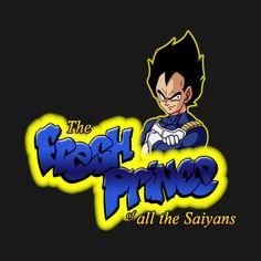 Awesome 'The+Fresh+Prince+of+all+the+Saiyans' design on TeePublic!