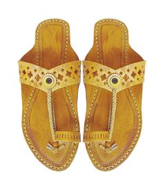 50ce81ef734162 Flat Heel Light Yelow V- Belt Handmade Leather Sandal DLC-W-293 Red