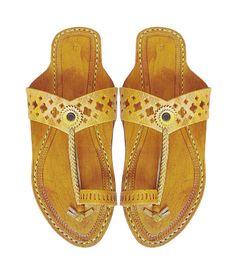 Flat Heel Light Yelow V- Belt Handmade Leather Sandal DLC-W-293