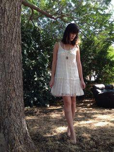 Free shipping White dress.Dress.Women by shpirulina on Etsy