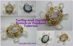 Wire Jig Patterns | Turtles and Spirals ... by Abby Hook | Jewelry Pattern