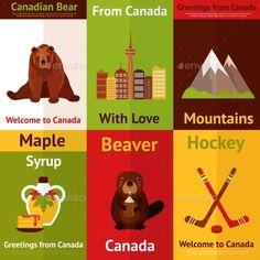 Canada Mini Poster Set