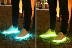 LED Sneakers Make You Really Light Footed At Your Next Party! -  #LED #party #rave #sneakers