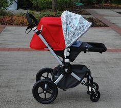 Adjustable stroller shade - Boy & Adjustable stroller shade - Pink Paisley u0026 Happy Houndstooth