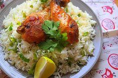 Poulet au sauce soja miel & riz basmati à la coriandre