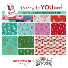 Thanks to YOU Week! Giveaway No.1 from @madpatchwork