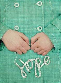 holding on to hope.