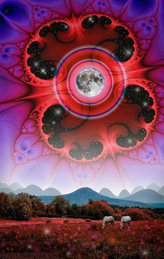 LARRY CARLSON Full Moon Master 36 x limited-edition archival pigment print on metallic paper. Limited-edition of 20 prints. Trippy Movies, Metallic Paper, Visionary Art, Moon Art, Psychedelic Art, Iphone Phone Cases, Three Dimensional, Pomegranate, Fractals