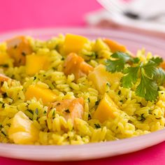 This gluten-free Tropical Chicken and Rice recipe infuses Caribbean roots with Zatarain's Caribbean Rice Mix, chicken, pineapple, mango and banana, all mixed perfectly together in an easy, one-pot meal.