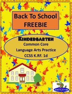 Back to School - Kindergarten Language Arts Practice FREEBIE. Students have to connect the alphabet letters in the right order to get the children to school and back home. Upper case and lower case letters. Good back to school quick assessment. Enjoy this free product and have a great year! - HappyEdugatorCCSS K.RF.1dBe the first to know about my new discounts, freebies and product launches: Look for the green star!