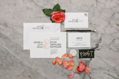 modern invitation by Vera Wang