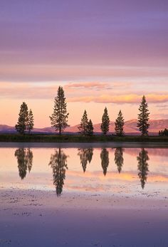 Yellowstone sunset.  ©Jerry Mercier
