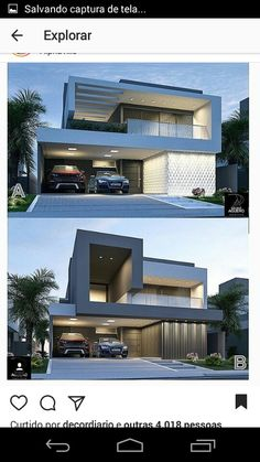 86 Architectural Design Pictures for Residential Buildings - Engineering Basic Modern House Facades, Modern Exterior House Designs, Modern House Plans, Exterior Design, Simple House Design, Minimalist House Design, Modern House Design, Residential Building Design, Residential Architecture