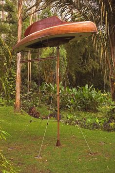Simon Starling, The Mahogany Pavillion (Mobile Architecture No.1) (2004) on ArtStack #simon-starling #art